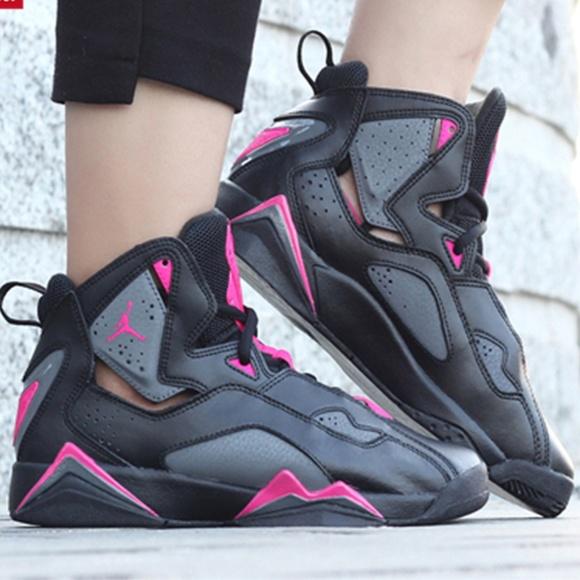 Jordan True Flight Hot Pink sneakers